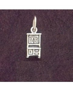 "Sterling Silver Cabinet Charm: Kitchen ""Hoosier"", Small"