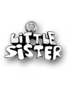 Sterling Silver Sister Charm: Little