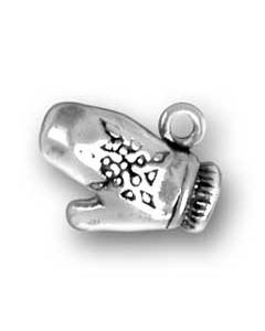 Sterling Silver Mitten Charm