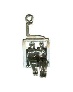 Sterling Silver Ski Charm: Chairlift