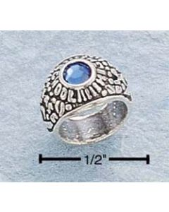Sterling Silver School Ring Charm: Assorted Colors