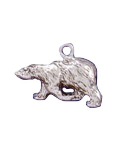 Sterling Silver Bear Charm: Polar, Medium