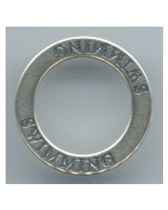 Sterling Silver Affirmation Circle Charm: Swimming