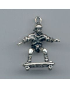 Sterling Silver Skateboarder Charm LLL-2053