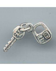 Sterling Silver Key Charm, Car Key W/Remote LLL-2077