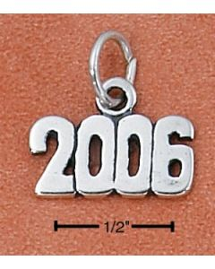 Sterling Silver Graduation 2006 Year Charm