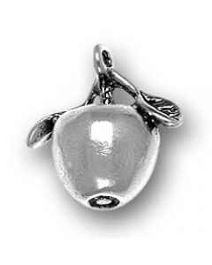 Sterling Silver Apple Charm: 3D