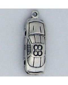 Sterling Silver Racecar Charm: #88