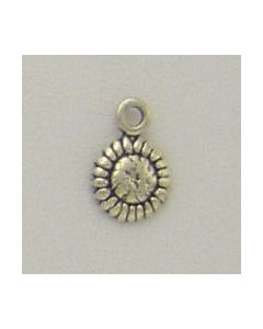 Sterling Silver Flower Charm: Sunflower, Mini