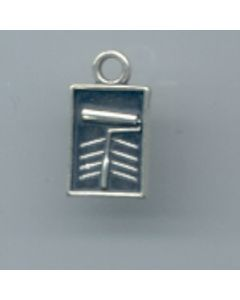 Sterling Silver Paint Roller & Pan Charm