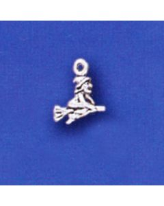 Sterling Silver Witch Charm: Mini MMM-2091