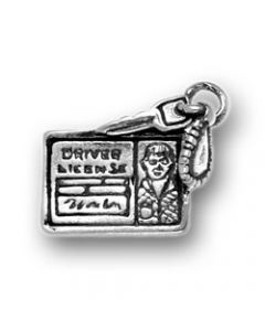 Sterling Silver Car Drivers License Charm, Male  MMM-2095