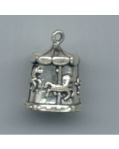 Sterling Silver Carousal Charm