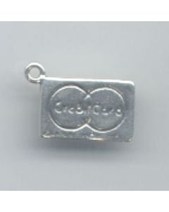 Sterling Silver Charge Card Charm: Small