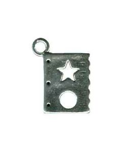 Sterling Silver Scrapbooking Charm: Stencil