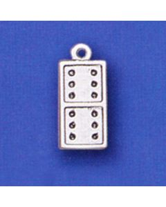 Sterling Silver Domino Charm  N-450