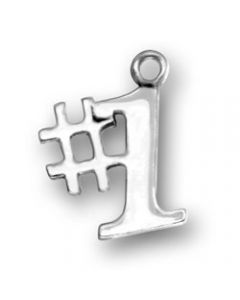 "Sterling Silver ""#1"" Charm"