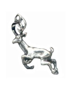 Sterling Silver Deer Charm: Buck, Running
