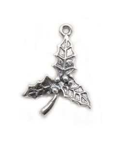 Sterling Silver Holly Charm O-497