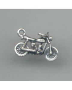 Sterling Silver Dirt Bike Charm OOO-2155