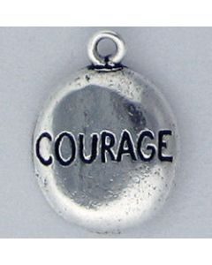 Sterling Silver Nugget Charm: Courage