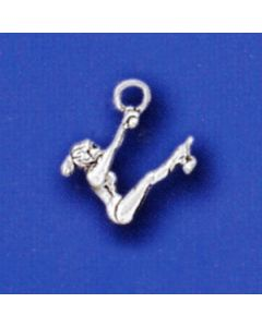 Sterling Silver Gymnast Charm: Bars