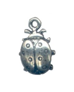 Sterling Silver Ladybug Charm: Medium