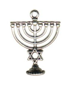 Sterling Silver Menorah Charm P-538