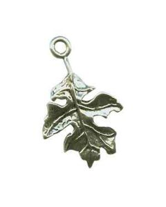 Sterling Silver Oak Leaf Charm, Fall, Autumn