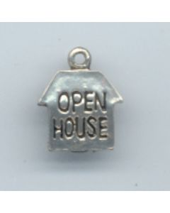 Sterling Silver Open House Charm