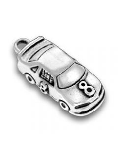 Sterling Silver Racecar Charm: #8