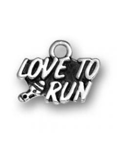 Sterling Silver Running Charm: Love To Run