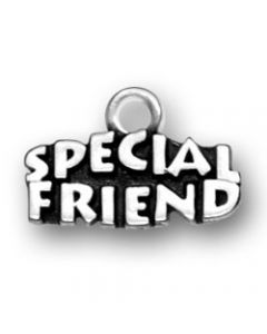 "Sterling Silver Special Friend Charm: ""Special Friend"""