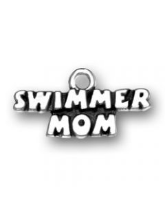 Sterling Silver Swimmer Mom Charm