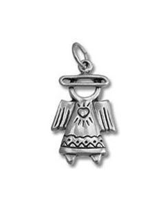 Sterling Silver Angel Charm: w/ Halo