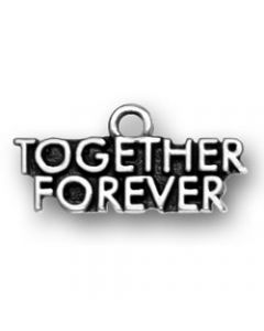 "Sterling Silver Love Charm: ""Together Forever"""