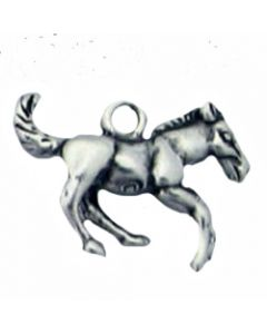 Sterling Silver Horse Charm: Small, 3D PPP-2203