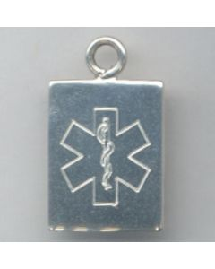 Sterling Silver Medical Alert Charm PPP-2206