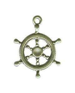 Sterling Silver Ship's Wheel Charm: Medium