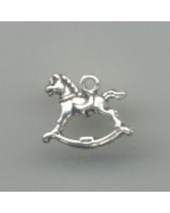 Sterling Silver Horse Charm: Rocking Horse R-553