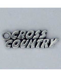 Sterling Silver Cross Country Charm