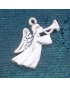 Sterling Silver Angel Charm: w/ Horn
