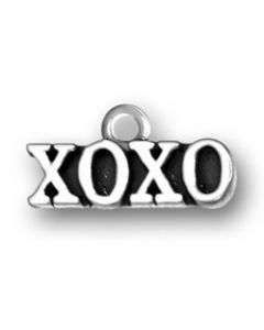 "Sterling Silver Love Charm: ""Xoxo"""