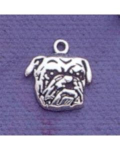Sterling Silver School Charm: Mascot: Bulldog Head