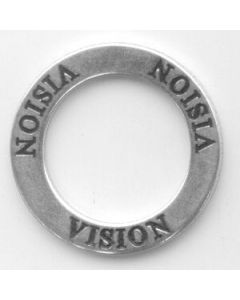 Sterling Silver Affirmation Circle Charm: Vision