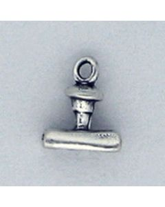 "Sterling Silver Stamp Charm: ""Paid"""