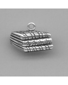Sterling Silver Fabric Charm: Stack