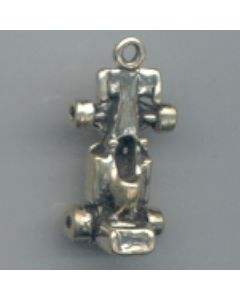 Sterling Silver Racecar Charm
