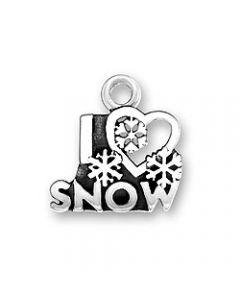 Sterling Silver Winter Charm: I * Snow S-593