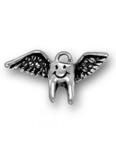 Sterling Silver Tooth Charm: w/ Wings